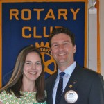 Rotarian of the Year, Brian King, and his wife Kara. Congratulations!!